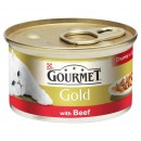 Gourmet Gold Κομματάκια σε σάλτσα με Βοδινό 85γρ.