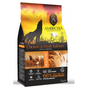 Ambrosia Grain-Free Dog Adult Chicken & Fresh Salmon 12kg